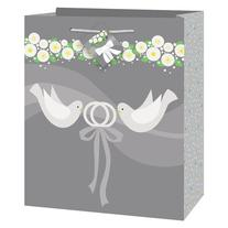 Medium Silver Wedding Gift Bag