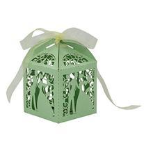 Towallmark 25pcs Wedding Laser Cut Hollow Out Candy Box