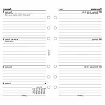 Filofax Week to View Lined Refill for 2016 Personal Size