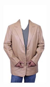 Men's Sand Western Blazer Genuine Lamb Leather