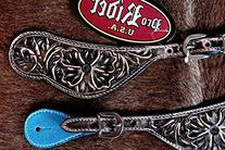 Western Riding Cowboy Boots Leather Spur Straps Tack