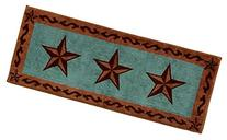 HiEnd Accents Western Star Print Rug, 24 by 60-Inch,