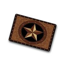 Western Texas Star Non-Slip Rubber Entrance Door Mat