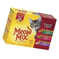 Meow Mix Wet Cat Food, 2.75-Ounce Cups, Pack of 12