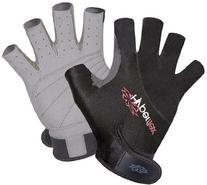 Hyperflex Wetsuits Men's 3/4 Finger Glove, Black, Small -