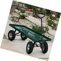 """10"""" 1000Lbs Wheelbarrow Outdoor Garden Wagon Nursery Cart"""