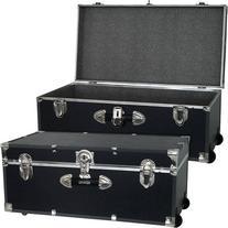 Mercury Luggage Seward Trunk Wheeled Storage Footlocker, 30