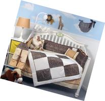 Soho White Chenille & Giraffe Minky Baby Crib Nursery