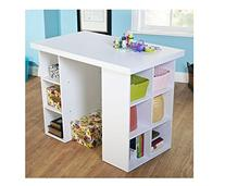 Metro Shop White Counter Height Craft Table-Counter Height