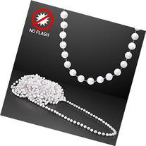 White Disco Ball Mardi Gras Beads