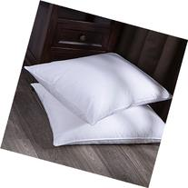 Puredown White Goose Down and Feather Bed Pillow, White, Set