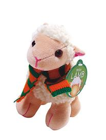"5.5"" Irish White Lamb with Scarf & Shamrock Patch Soft Toy"