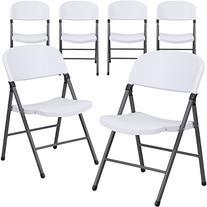 Flash Furniture 6 Pk. HERCULES Series 330 lb. Capacity White
