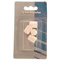 Shepherd 4 Count 1.13 in. White Plastic Leg Tips 9744