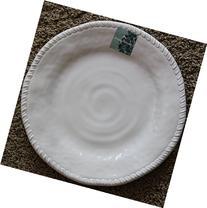Tommy Bahama White Rope Edge Melamine Salad Plates - Set of