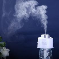 DGI MART White Style Bottle Cap Mini Humidifier Mute USB