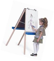 Whitney Brothers Adjustable Easel With Write and Wipe Board