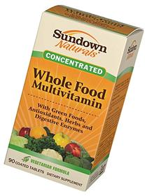 Sundown Naturals Whole Foods Concentrate Multivitamin
