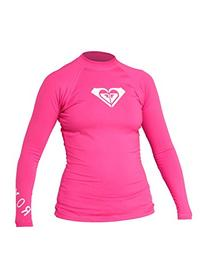 Roxy Juniors' Whole Hearted Long-Sleeve Rashguard,Pink,6-S