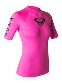 Roxy Junior's Whole Hearted Short Sleeve Rash Guard,