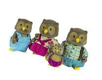 Li'l Woodzeez Whooswhoo Owl Family 4-Piece Bedtime Set with
