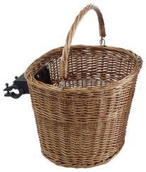 Avenir Wicker Basket with Handlebar Mount, 15 Inch x 12 Inch