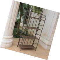 International Caravan Valencia Folding Bakers Rack in
