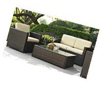 3-Pc Wicker Seating Set