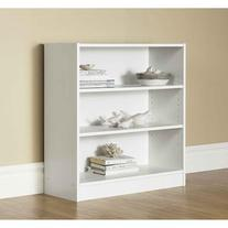 Mainstays Wide 3-Shelf Bookcase