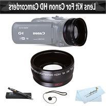 Wide Angle Lens Kit for Canon VIXIA HF R82, HF R80, HF R800