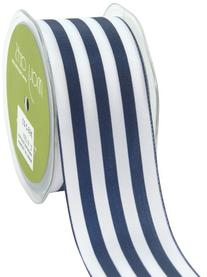 May Arts 2-Inch Wide Ribbon, Navy and White Stripe