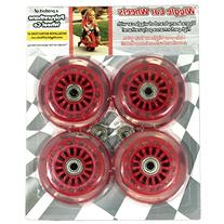 Wiggle Car Polyurethane Replacement Wheels - Red