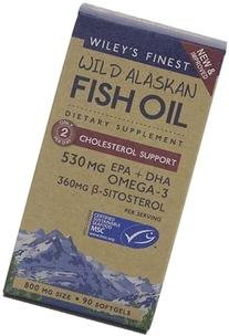 Wild Alaska Fish Cholesterol Support 800 mg Wileys Finest 90