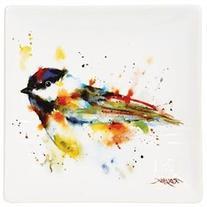 Dean Crouser Wild Bird Stoneware Snack Plate - Chickadee