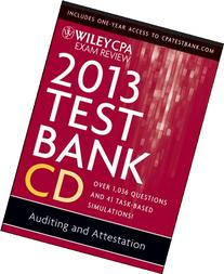 Wiley CPA Exam Review 2013 Test Bank CD, Auditing and