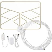 1byone Window Antenna 50 Miles Super Thin Amplified Digital