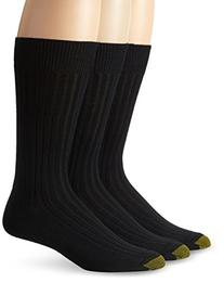 Gold Toe Men's Windsor Wool Dress Sock, Black, 3-Pack,Sock