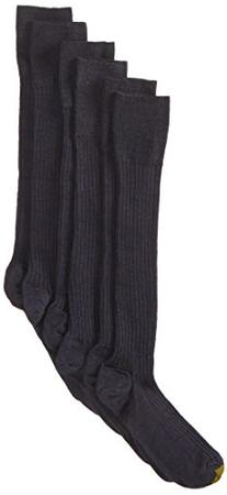 Gold Toe Men's Windsor Wool Over the Calf Dress Sock, Navy