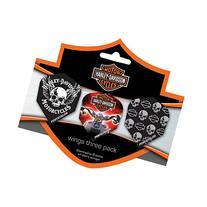 Harley-Davidson Wings Triple Skulls Flights - Set of 3