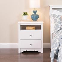 Metro Shop Winslow White 2-drawer & Open Cubbie Nightstand