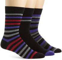 Ben Sherman Men's 3 Pack Winston Pattern Socks, Purple, 9 -