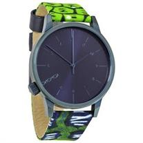 Komono Winston Vlisco Dark Blue Dial Snake Print Ladies