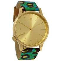 Komono Winston Vlisco Gold Dial Snake Print Ladies Watch