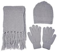 Simplicity Adult Winter Knitted Warm Gloves Scarf Hat Set,