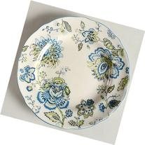 222 Fifth Winter Floral Blue Salad Plates Set of Four 8 3/4