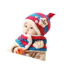 Baby Winter Hat&Scarf Warm and Lovely Baby Cap&Scarf, Style