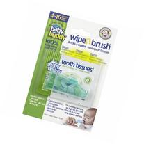 Baby Buddy Wipe N Brush with Tooth Tissues, Green, 1 ea