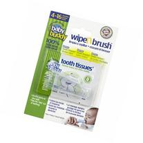 Baby Buddy Wipe N Brush with Tooth Tissues, Clear, 1 ea