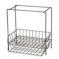 Wire Double Tray with Hanging File, Letter, 13 5/8 x 10 1/16