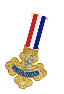Wizard of Oz Cowardly Lion-Badge of Courage, 75th